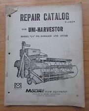 Minneapolis Moline LA Uni-harvester Combine Operators Setup Repair  Manual