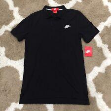 Nike GS Slim Fit Polo T-Shirt Athletic Black-White Men's M, 727330-010