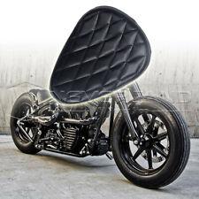 Motorcycle Solo Driver Seat Pad For Harley Sportster Chopper Bobber Custom Black