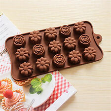 Rose and Camellia Silicone Soap mold Candy Chocolate Fondant Tray mould ICE Cube
