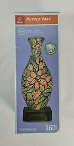 New - Pintoo Beautiful Seamless Flowers Puzzle Vase 3D Jigsaw Worthy of Display