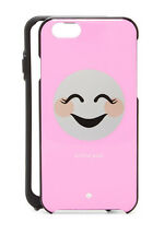NWT Kate Spade Silver & Pink 'Tickled Pink' Smiling Emoji iPhone 6/6s Case