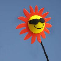 1x Car Antenna Accessories Red Petals Sunflower Flowers Aerial Ball Decor Topper