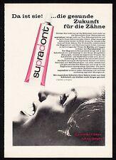 3w920/ Alte Reklame - von 1961 - SUPRADONT - Gesunde Zähne leben länger !