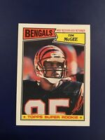1987 Topps #190 TIM MCGEE SUPER ROOKIE RC BENGALS SET BREAK NM-MINT