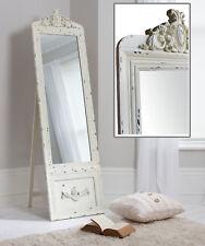 "Belvedere Shabby Chic Cheval Full Length Vintage Cream Mirror - 75"" x 20"""