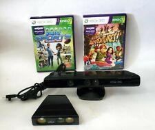 Microsoft Xbox 360 Kinect Sensor Con Nyko Zoom y 2 Juegos