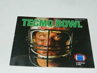 Tecmo Bowl Nintendo NES Video Game Manual Only