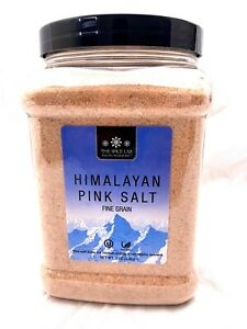 5 LB FINE Pink Crystal Himalayan Pink Salt Fine Grain Natural - Free Expedited