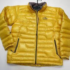 L.L. Bean Men's 800 Fill  Down Pack Jacket Yellow Men's Medium NEW