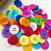 100 pcs 20MM Mix Color 4 Holes Flatback Plastic Buttons Shirt Buttons  PT180