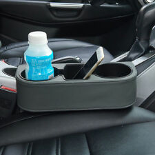 Universal Leather Car Seat Dual Cup Drink Bottle Holder Pocket Storage Organizer