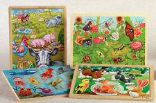 4 Kids Puzzles - magnetic fish, magnetic bug, playful pets, barn animals,