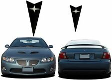 Flat Matte Black Front & Rear Emblem Inserts For 2004-2006 Pontiac GTO New USA