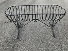 Vintage Strong Plant Stand Rack Black Plastic Coated Metal Patio Cradle Stand