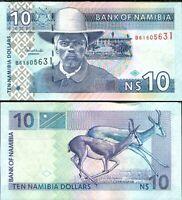 NAMIBIA 10 DOLLARS ND 2001 P 4 UNC