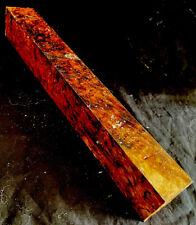 Exact Amboyna Burl Wood 1.5x12 Knife Scales Pool Cue Tips Door Gear Knobs SMJ