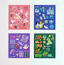Ardium Color Point Illustrated Cute Stickers for Planner Book Calendar Decor