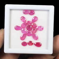 Natural Ruby 18 Pcs Mix Cut Pinkish Red Premium Loose Gemstones 5.88mm-8.04mm