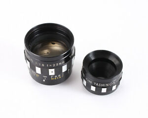 25MM 10MM LOT OF TWO YASHICA 8MM 8-E III LENSES: 25/1.8 + 10/1.8/205462