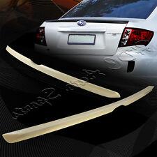 For 2008-2014 Subaru Impreza WRX Unpainted Gray ABS Rear Trunk Lip Spoiler Wing