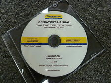 New Holland T5040 T5050 T5060 T5070 Tractor Owner Operator Maintenance Manual CD