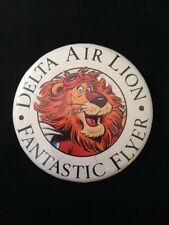 Delta Air Lion Fantastic Flyer Airline Advertising Pinback Button