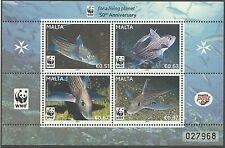 Malta 2011 - Nature Fauna Fish WWF 50th Anniv. Wild Animals Marine - Sc 1429 MNH