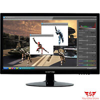 "20"" LED Monitor Gaming LCD Screen E205W-1600 HDMI VGA DVI Black Image Quality"