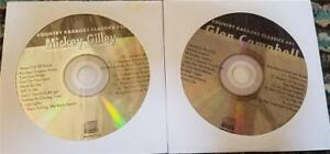 2 CDG KARAOKE HITS COUNTRY GLEN CAMPBELL/MICKEY GILLEY CKC CD+G MUSIC SONGS SET