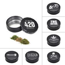 1pcs Herb/Tobacco Box Container Storage Stash Jar 25ML Cigarette Case Tea Metal