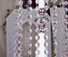 1M Acrylic Crystal Bead Chandelier Wedding Centerpiece Lamp Swag Garland Chain