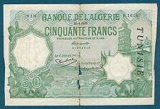 TUNISIE - BANQUE de L'ALGERIE 50 FRANCS Pick n° 9 du 15-4-1937 en B   B.1644 918