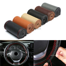 "15""/37-38CM Car Steering Wheel Cover Genuine Leather For BMW Toyota Honda Mazda"