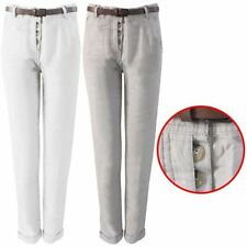 Unbranded Chinos Mid Rise Trousers for Women
