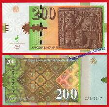 MACEDONIA 200 Denari dinara 2016 Pick NEW SC / UNC