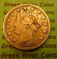 1883  Liberty Head V Nickel   #NV83   Very Nice  Coin No Cents