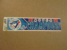 MLB Blue Jays Circa 1992 World Champions Bumper Sticker