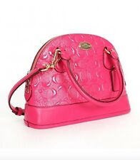 Coach Mini Cora (F35279) Pink Ruby Satchel Purse Bag - $295