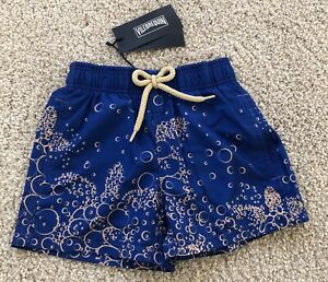 New w Tags VILEBREQUIN Swim Trunks BUBBLES - 2 YEARS - BLUE - KIDS - UNISEX