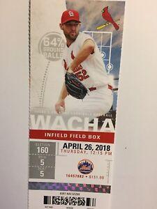 ST. LOUIS CARDINALS VS NEW YORK METS APRIL 26, 2018 TICKET STUB