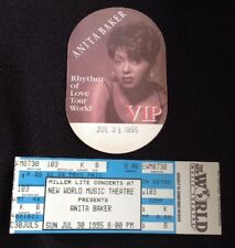 Anita Baker 1994 Rhythm Of Love Tour Vip Backstage PasS/Sticker
