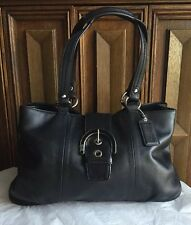 COACH N0. G1175-F18751 WOMEN'S HOBO/SHOULDER BAG SOFT BLACK LEATHER HANDABG