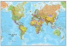 EDIBLE WORLD MAP Cake Topper HAPPY BIRTHDAY Icing sheet, A4 can be personalised