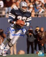 TONY DORSETT SIGNED 8x10 PHOTO + SB XII CHAMP DALLAS COWBOYS LEGEND BECKETT BAS