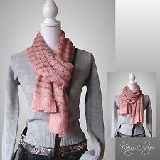 Winter Schal * Winterschal Strickschal Loopschal Knit Scarf mit Pailletten DE 4