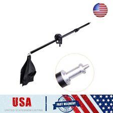 US Photography Studio Light Stand Telescopic Boom Arm + Sandbag Grip 75-135cm