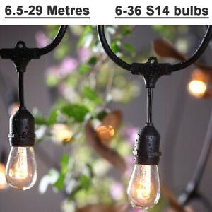5-30 Hanging Sockets Heavy Duty Mains Powered Outdoor Patio Festoon String Light