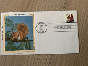 2489 Red Squirrel Self-adhesive COLORANO FDC