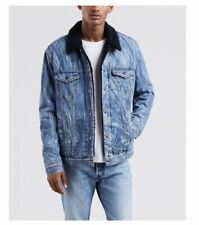 Levi's X Premium Justin Timberlake Fresh Leaves Sherpa Denim Jacket Brand New M